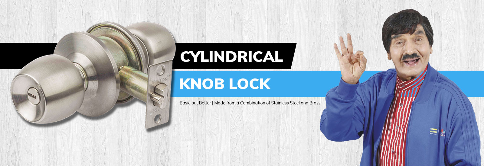 Jainson Locks Home Page Banner - Main Door Locks - CYlindrical Knob Lock for Doors of Thickness 25mm To 45mm